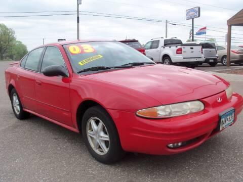 2003 Oldsmobile Alero for sale at Country Side Car Sales in Elk River MN