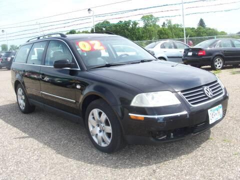2002 Volkswagen Passat for sale at Country Side Car Sales in Elk River MN