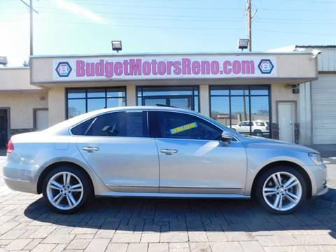 2012 volkswagen passat for sale in nevada for Budget motors reno nv