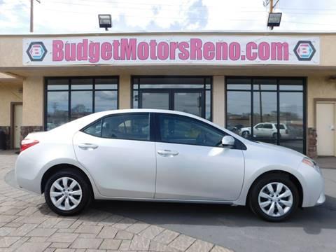 Toyota corolla for sale in reno nv for Budget motors reno nv