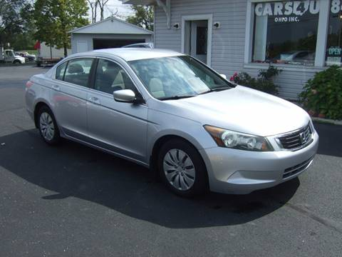 2008 Honda Accord for sale at Cars 4 U in Liberty Township OH