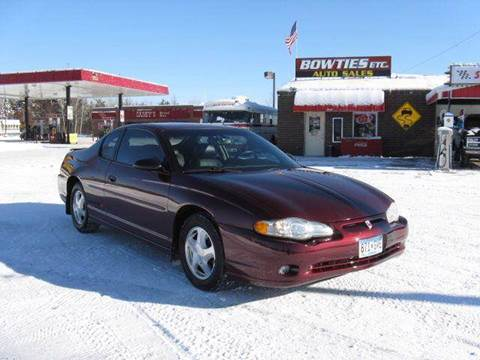 2000 Chevrolet Monte Carlo for sale at Bowties ETC INC in Cambridge MN