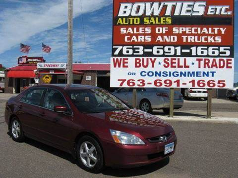 2003 Honda Accord for sale at Bowties ETC INC in Cambridge MN