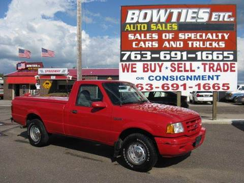 2001 Ford Ranger for sale at Bowties ETC INC in Cambridge MN