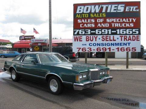 1979 Mercury Cougar for sale at Bowties ETC INC in Cambridge MN