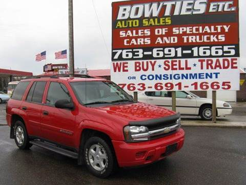 2002 Chevrolet TrailBlazer for sale at Bowties ETC INC in Cambridge MN
