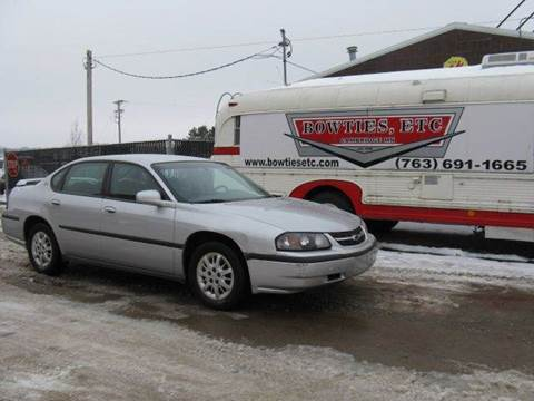 2002 Chevrolet Impala for sale at Bowties ETC INC in Cambridge MN