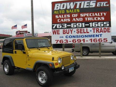 2000 Jeep Wrangler for sale at Bowties ETC INC in Cambridge MN