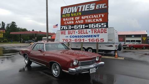 1973 Chevrolet Monte Carlo for sale at Bowties ETC INC in Cambridge MN