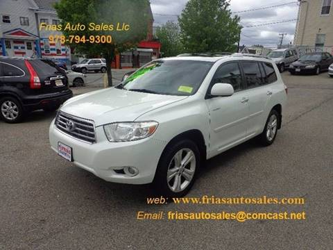 2009 Toyota Highlander for sale at FRIAS AUTO SALES LLC in Lawrence MA