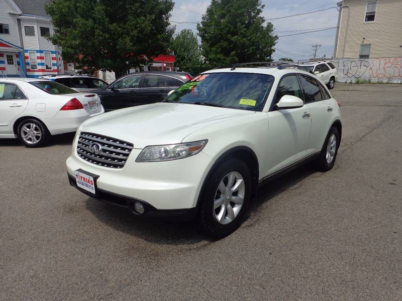 2005 Infiniti FX35 for sale at FRIAS AUTO SALES LLC in Lawrence MA