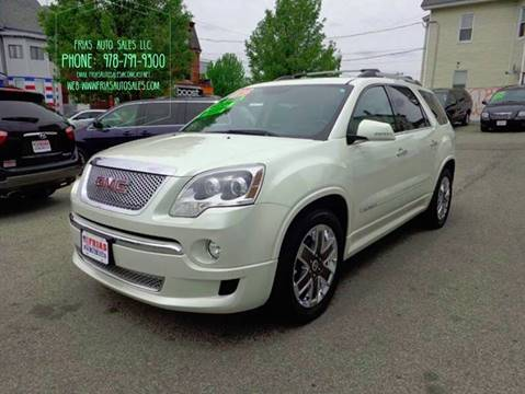 2012 GMC Acadia for sale at FRIAS AUTO SALES LLC in Lawrence MA