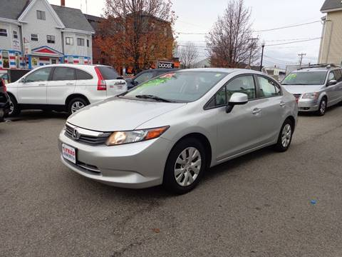 2012 Honda Civic for sale at FRIAS AUTO SALES LLC in Lawrence MA