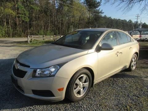 2013 Chevrolet Cruze for sale at Special Finance of Charleston LLC in Moncks Corner SC
