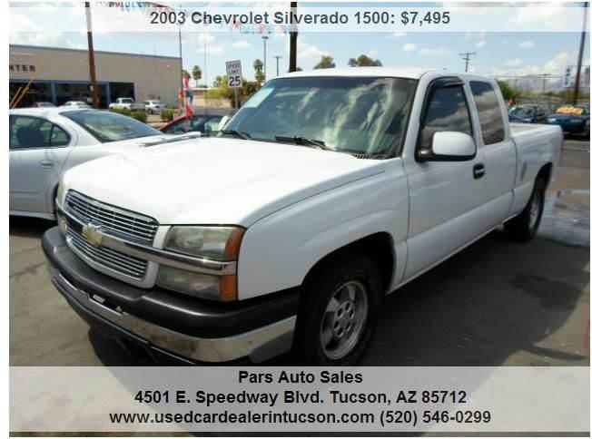 2003 Chevrolet Silverado 1500 for sale at PARS AUTO SALES in Tucson AZ