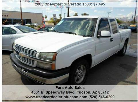 2003 Chevrolet Silverado 1500 for sale at PARS AUTO SALES in Tucson AZ