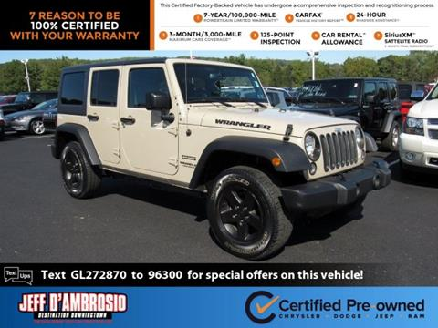 2016 Jeep Wrangler Unlimited for sale in Downingtown, PA