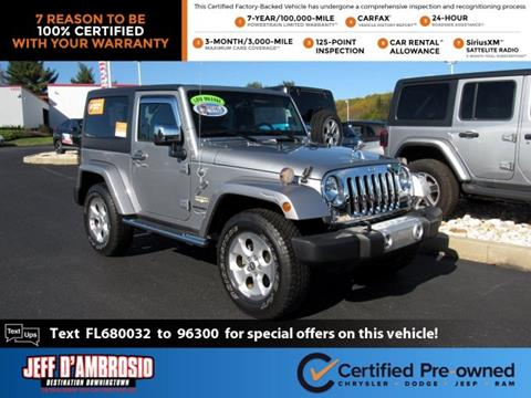 2015 Jeep Wrangler for sale in Downingtown, PA