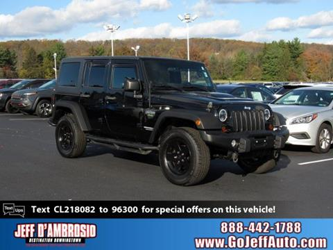 2012 Jeep Wrangler Unlimited for sale in Downingtown, PA