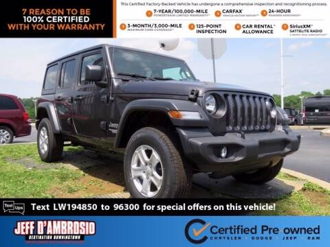 2020 Jeep Wrangler Unlimited for sale at Jeff D'Ambrosio Auto Group in Downingtown PA