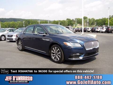 2017 Lincoln Continental for sale at Jeff D'Ambrosio Auto Group in Downingtown PA