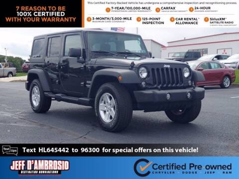 2017 Jeep Wrangler Unlimited for sale at Jeff D'Ambrosio Auto Group in Downingtown PA