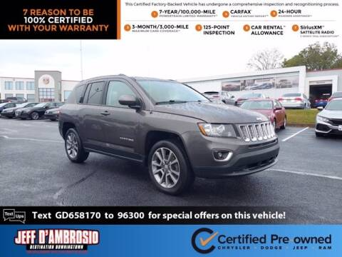 2016 Jeep Compass for sale at Jeff D'Ambrosio Auto Group in Downingtown PA