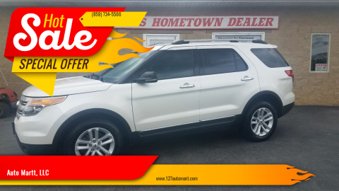 2013 Ford Explorer for sale at Auto Martt, LLC in Harrodsburg KY