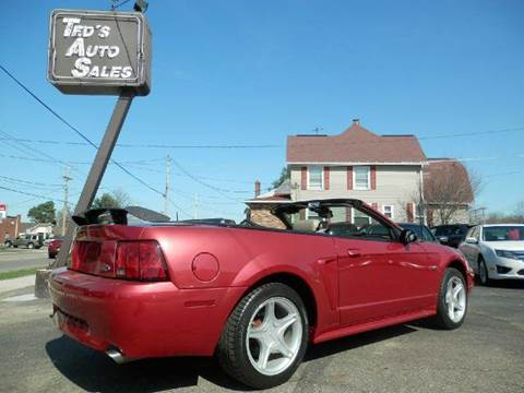 2000 ford mustang gt 2dr convertible in louisville oh ted 39 s auto sales. Black Bedroom Furniture Sets. Home Design Ideas
