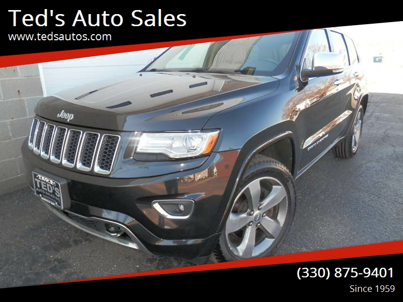 2014 jeep grand cherokee 4x4 overland 4dr suv in louisville oh ted 39 s auto sales. Black Bedroom Furniture Sets. Home Design Ideas