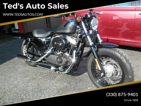 2014 HARLEY DAVIDSON XL1200X for sale at Ted's Auto Sales in Louisville OH