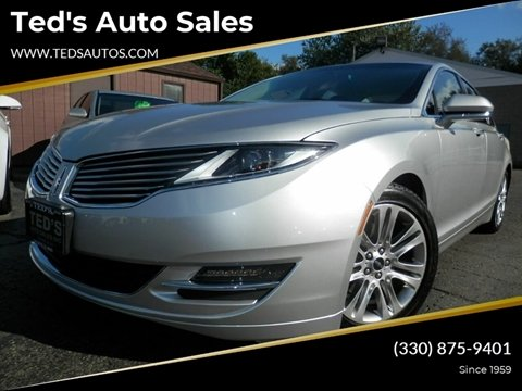 2013 Lincoln MKZ for sale at Ted's Auto Sales in Louisville OH