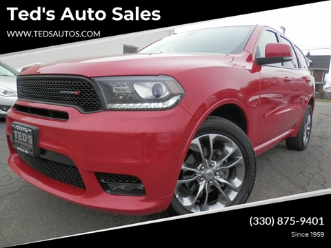 2019 Dodge Durango GT Plus for sale at Ted's Auto Sales in Louisville OH