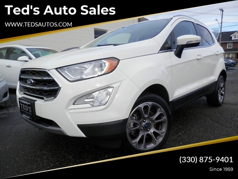 2019 Ford EcoSport Titanium for sale at Ted's Auto Sales in Louisville OH