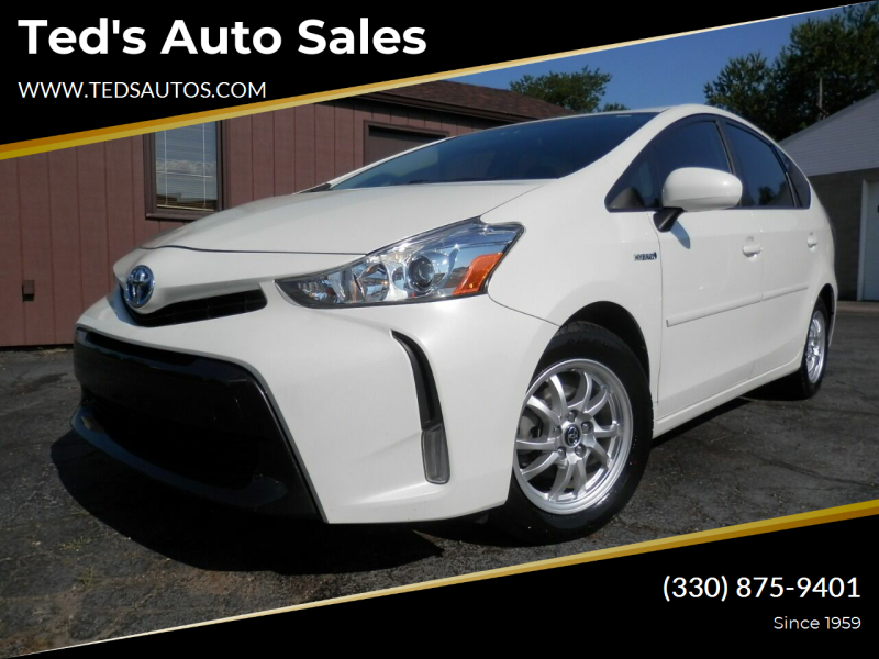 2017 Toyota Prius v for sale at Ted's Auto Sales in Louisville OH