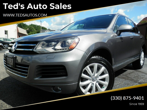 2012 Volkswagen Touareg for sale at Ted's Auto Sales in Louisville OH