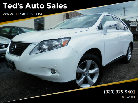 2010 Lexus RX 350 for sale at Ted's Auto Sales in Louisville OH