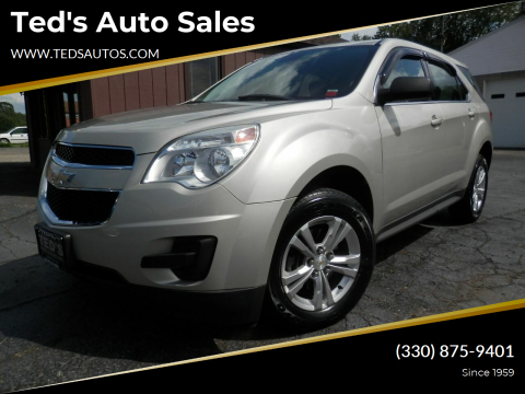 2013 Chevrolet Equinox for sale at Ted's Auto Sales in Louisville OH