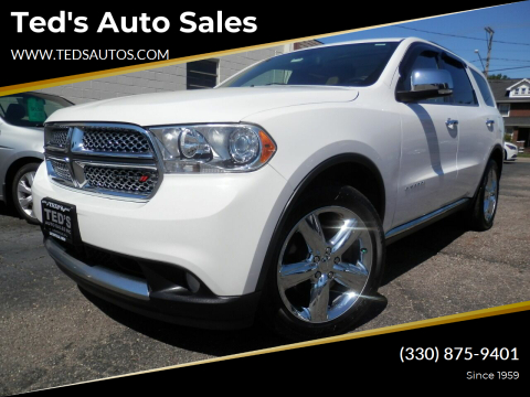 2013 Dodge Durango for sale at Ted's Auto Sales in Louisville OH