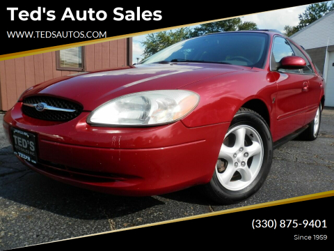 2001 Ford Taurus for sale at Ted's Auto Sales in Louisville OH
