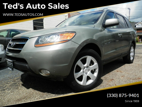 2009 Hyundai Santa Fe for sale at Ted's Auto Sales in Louisville OH