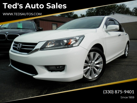 2014 Honda Accord for sale at Ted's Auto Sales in Louisville OH