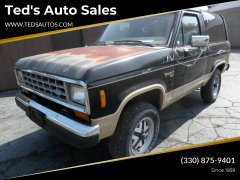 1988 Ford Bronco II for sale at Ted's Auto Sales in Louisville OH