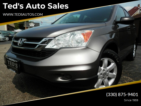 2011 Honda CR-V for sale at Ted's Auto Sales in Louisville OH