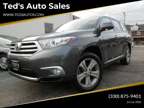 2012 Toyota Highlander for sale at Ted's Auto Sales in Louisville OH