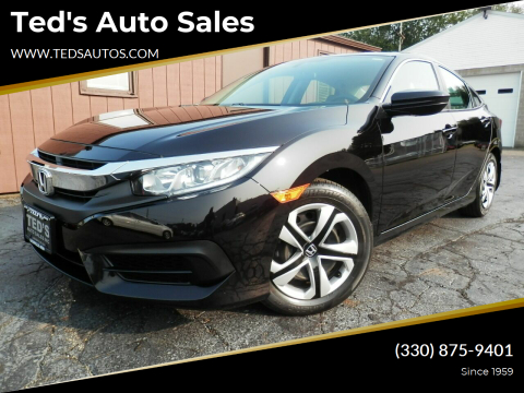 2017 Honda Civic for sale at Ted's Auto Sales in Louisville OH