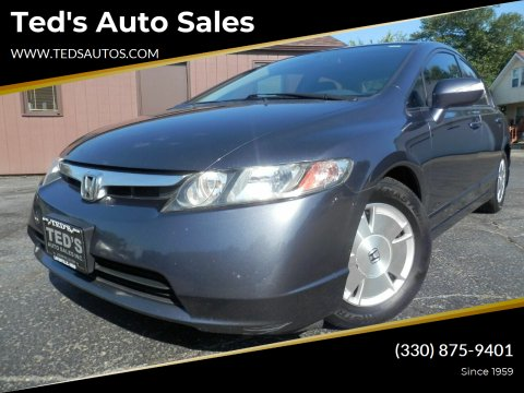 2008 Honda Civic for sale at Ted's Auto Sales in Louisville OH
