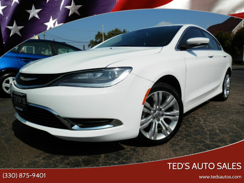 2015 Chrysler 200 for sale at Ted's Auto Sales in Louisville OH