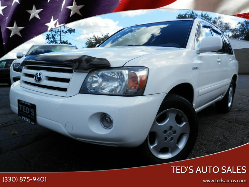 2005 Toyota Highlander for sale at Ted's Auto Sales in Louisville OH