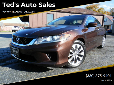 2013 Honda Accord for sale at Ted's Auto Sales in Louisville OH